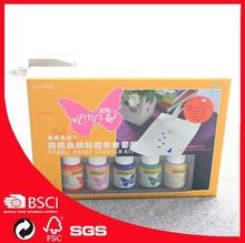 pebeo 29ml x5 bottles fabric paint for starter /kids