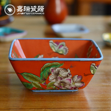 """China Factory 6"""" Large Hand Painted Ceramic Dry Fruit Bowl"""