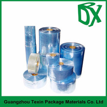 Plastic packaging made in china PVC/PET/POF transparent cross-linked shrink film for bottles/shampoo/toys