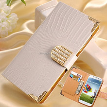 Luxury Wallet Shining Crystal Bling Leather Cover Case For Samsung Galaxy S4 I9500