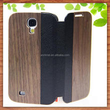 new product real wood leather flip cover for samsung galaxy s3 i9300 s4 i9500