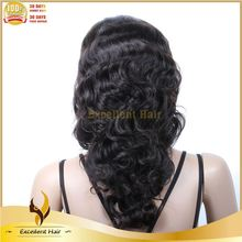 Peruvian hair lace wig 100% virgin human hair half machine made lace frontal wig with baby hair