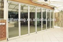 Puerta de aluminio Bi-puerta plegable / perfil puerta de material de aluminio / Hecho en China doble puerta de cristal / ventana y puerta de aluminio