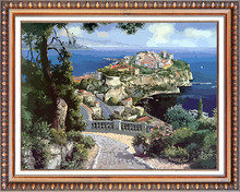 island landscape 3d resin decorative relief wall painting