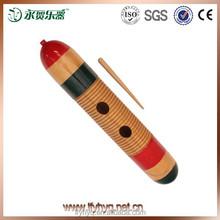 Sonido de instrumentos musicales de madera fabricante guiro, colorido música de madera