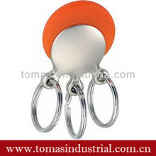 3rings PVC metal keychains for promotion gift