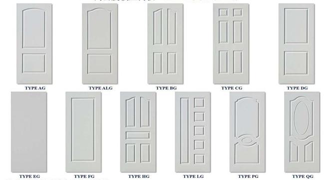 china best price living room simple design solid wood mdf door