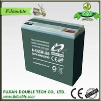 agm deep cycle electric vehicle 12v 20ah e-bike lead acid battery
