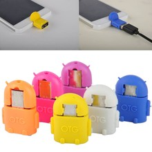 wholesale Micro USB To USB 2.0 Robot OTG Adapter Converter For Android Phone Tablet