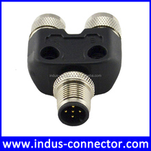 M12 5pole Y type T type quick release power cable connector