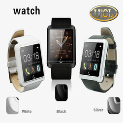 2015 Factory Price Best selling leather U10 smart watch mobile phone for android watch/ios watches