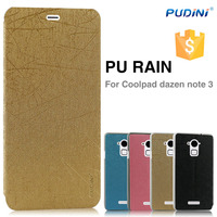 2015 PUDINI factory price PU flip cover for coolpad dazen note 3 leather flip case for coolpad dazen note 3