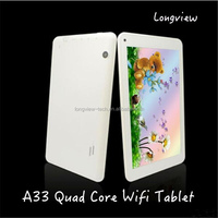 Cheap wifi tablet pc 7 inch A33 Quad Core Android Tablet bluetooth front/rear Camera