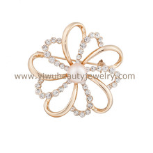 Bulk buying good quality brooches jewelry for women fashionable handmade flower brooches and hijab pins for dress/scarf/suits