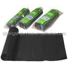 Heave duty black garbage bag on roll