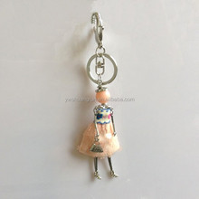 Jewelry silver key chains doll cell phone accessories keychain basketball key chain ring