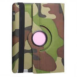High Quality Camouflage Leather Cover Case for iPad 2 3 4,For iPad 2 3 4 Cover Case