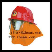 fire resistant plastic helmet/ safety ABS high intensity helmet/fire fighter used helmet