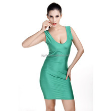 2015 Latest summer Fashion Ladies Clothing Sexy Package Hip Halter Women Dresses Elegant Green Night club party Dress