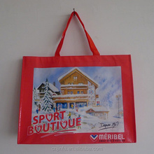 Handled Style and PP,Eco- PP woven/ non woven/ RPET Material PP Woven shopping bag