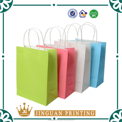 Custom Logo Printing Craft Paper Shopping Bag Kraft Packaging Bag