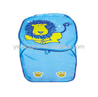 foldable pop up cartoon polyester storage bag collapsible laundry hamper cheap laundry bag for kid