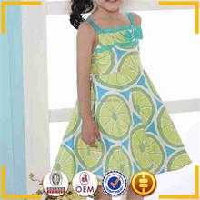 Eco-friendly children camisole dress / South cotton dress material