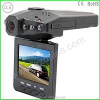 F198 Car DVR Camera with 6 IR LED Night Vision and 270 Degree Screen Moving Car Blackbox