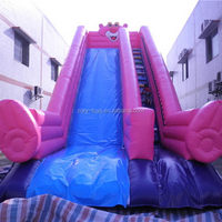 Top level best sell inflatable 18 foot wet/dry slide