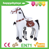Funny ride toys!!!Hot sale white horse,solar horse toy,galloping horse toy