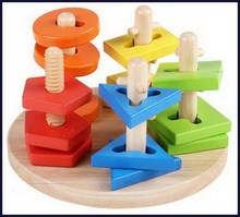 Low price new products kindergarten wooden block toys