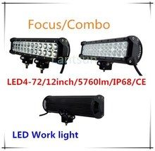atv accessories 2015 Auto Parts Double Rows LED Light Bar for Truck, 12'' 72w led light bars for trucks 4wd led light bar