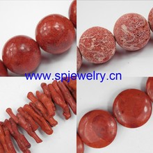 natural coral, round 2-12mm, 16-inch per strand