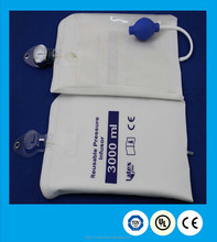 2015 newest style convenient hospital 3000ml pressure infusion bag reusable infusion cuff