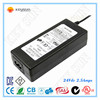 Class 2 ac 220v to dc 24V 2.5A 60w power supply inverter adapter for pos device