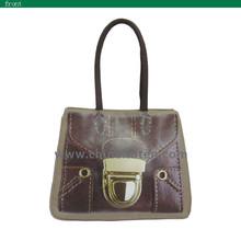 wenzhou zhejiang customized eco PU cotton canvas woman tote handbags