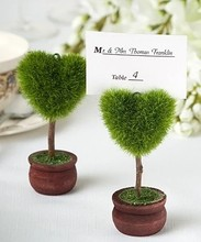 Unique Heart Topiary Place Card Holder Wedding Favors