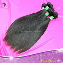 Unprocessed Wholesale Soft And Smooth 100% relaxed brazillian silky straight hair
