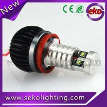 CE RoHS 6W H8 car accessories led light angel eyes for BMW E90 E92 E93 E87 E82 E70