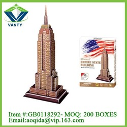 Educational toys type best world famous building large 3d puzzle