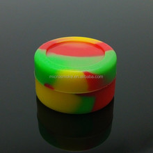 Platinum cured silicone jars dab wax container,5ml silicone container for wax/oil,butane hash oil silicone container
