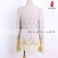 Lace Material Oem Production Good Price White Lace Wedding Dress Purple Sash