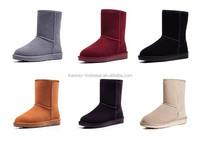 bigger size nice fashion genuine leather snow boots