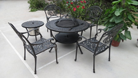 Cast aluminum top quality world source international patio furniture