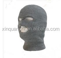 100% acrylic 3 holes ski knitted balaclava face mask hat