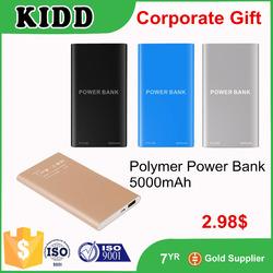 Black Smart Aluminum case power bank, mobile power bank 5600mAh, portable power bank