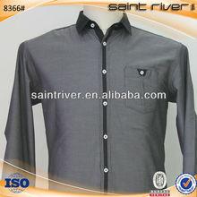 8366S Poplin Camisas Hombre Negocios