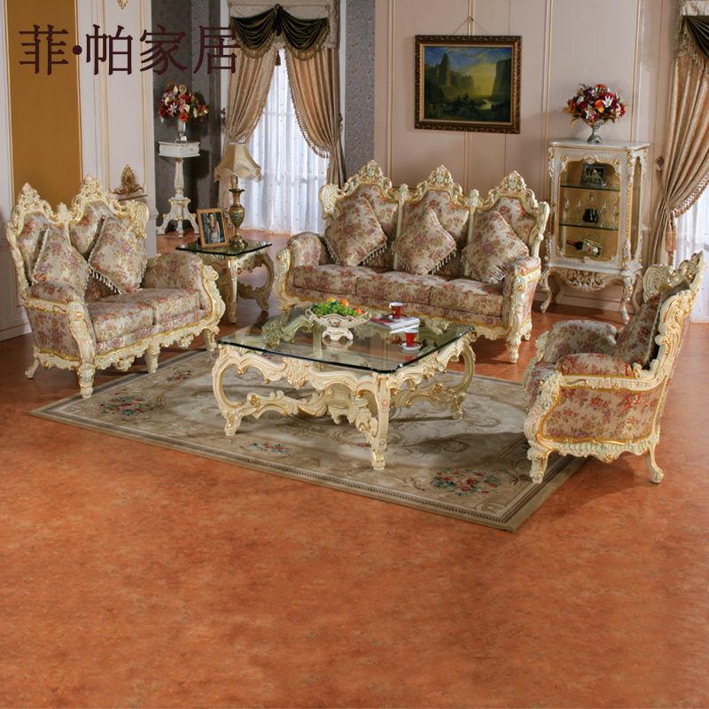 Franc s lounge ocio sof de la tela antiguo sal n de - Muebles de salon antiguos ...