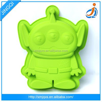 Cute high quality green animal silicon mold