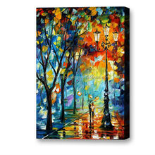 Wholesale impressionist street knife palette paintings